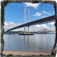 Forth Bridges Medium Square Slate FMC_58_MSL
